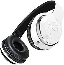 BT-09 Wireless Bluetooth Headphones Foldable Headset Stereo Heavy Bass Earphones (White Black)
