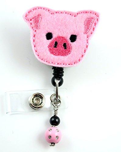 Adorable Pig Face - Nurse Badge Reel - Retractable ID Badge Holder - Nurse Badge - Badge Clip - Badge Reels - Pediatric - RN - Name Badge Holder