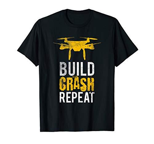 Drohne Shirt I Geschenk Drohnen Pilot I Quadrokopter Roboter