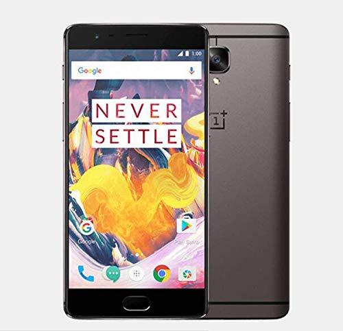 OnePlus 3T Smartphone 64GB Gunmetal A3003 [EU-Version] mit Dash Charger (6GB RAM, Snapdragon 821, USB Type-C, LTE) 5,5 Zoll