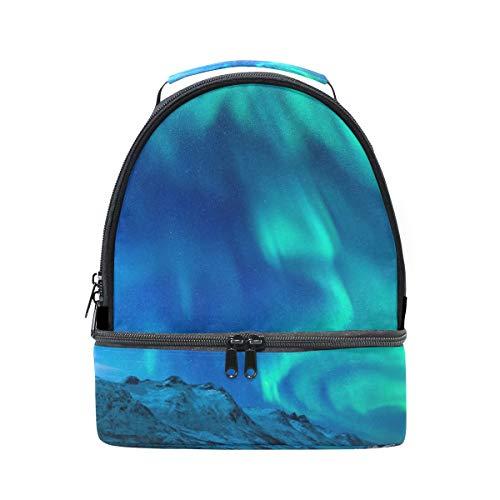 Hengpai Space Man Artistic Galaxy Lunchtasche Dual Deck Isolierte Kühltasche Tote Bag Verstellbarer Gurt Griff für Jungen Herren Tote Einheitsgröße Multi9