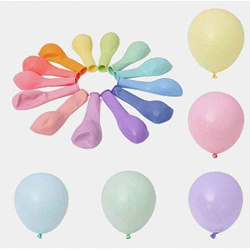 Unishop 100 Globos de Colores Pastel de Látex para Fiestas, Globos para Decorar en Celebraciones, Bodas, Cumpleaños (Multicolor)
