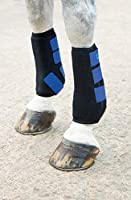 These boots offer total impact protection and support to fetlock, shins, tendons and ligaments Double layer, impact-absorbing neoprene is soft and flexible for a comfortable fit and features micro-perforations to allow airflow, keeping the leg from o...
