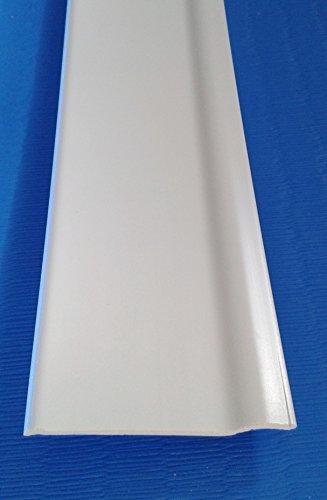 BATTISCOPA IN PVC ESPANSO n. 5 barre da mt. 2 ciascuna (BIANCO)