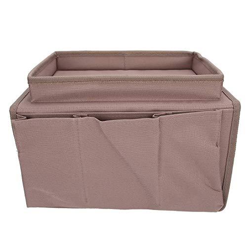 4 bolsillos sofá bolsa de almacenamiento sofá apoyabrazos TV control remoto organizador sillón sofá bolsa con bandeja para taza café