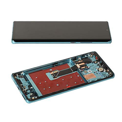 LQIAN Pantalla LCD Pantalla Fit For P30 P 30 Pro Pantalla LCD OLED Original 10 Puntos Táctiles Digitalizador Reemplazo Digitalizador de la Pantalla táctil (Color : Aurora Blue Frame)