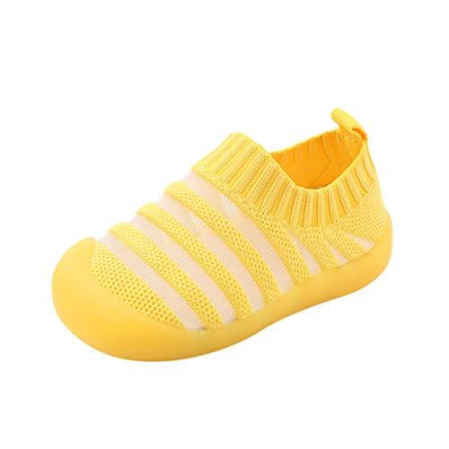 Zapatos de los niños Zapatillas de deporte Sandalias Planas Zapatos de Bebé Niñas Niños al aire libre Senderismo Deportes Verano Slip-On Zapatos, color Amarillo, talla 23 EU