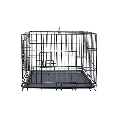Daniel James Products Pet Cage Dog Puppy Metal Travel Training Crate Vet Cat Portable 2 Doors Carrier (Small)