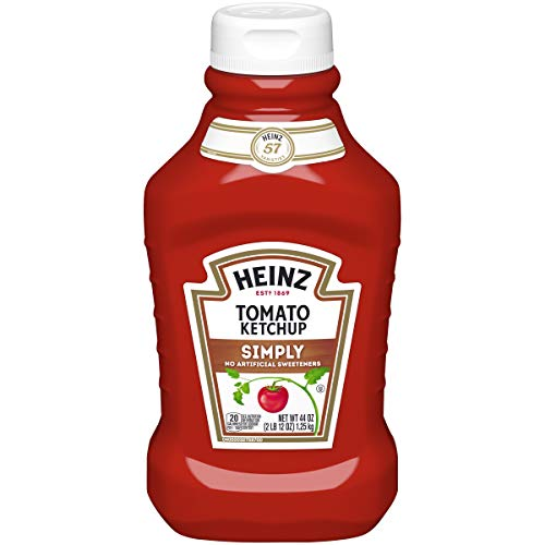 Heinz Simply Tomato Ketchup (44oz Bottle, Pack of 6)