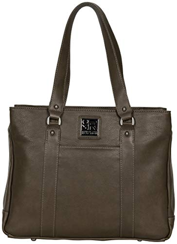 Kenneth Cole Reaction Women's Hit Pebbled Faux Leather Triple Compartment 15' Laptop Business Tote, One Size