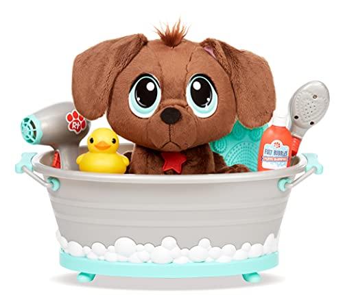 Rescue Tales Scrub 'n Groom Badewannen-Spielset mit Schokoladenlabor, Plüschspielzeug