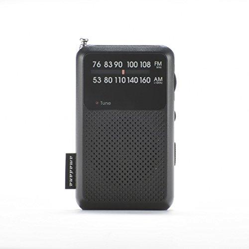 アマダナタグレーベル【ワイドFM対応】FM/AM amadana TAG Label モバイルラジオ(ブラック)AT-OMR0011-BK【ビックカメラグループオリジナル】