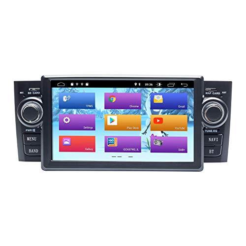 JALAL Radio de Coche Android 10.0 para Fiat Grande Punto Linea 2007-2012 GPS estéreo de Coche con Salida RCA Completa WiFi OBD SWC