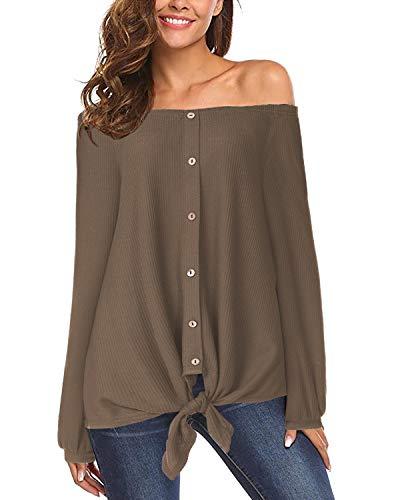 Yoins - Camiseta para mujer, de verano, de corte suelto, man