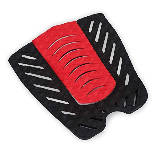 Almohadillas de tracción para surf de EVA negras y rojas antideslizantes de 12,2 x 3,9 pulgadas, almohadillas de tracción para tablas de surf, para tabla de remo