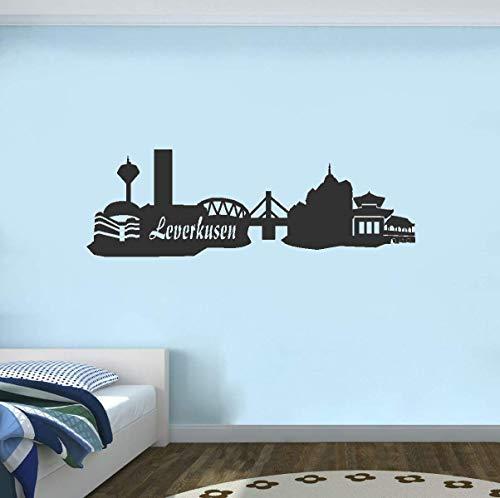 Wandtattoo Leverkusen Skyline Wandtattoo verschiedenen Größen und Farben lieferbar Vinyl Aufkleber Kinderzimmer Wohnzimmer Schlafzimmer Klassenzimmer Home Decor