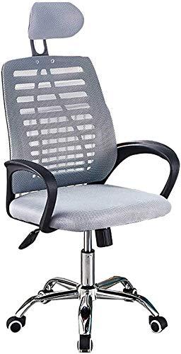 N/Z Living Equipment Lift Verstellbarer Bürostuhl Ergonomischer Netzstuhl Computer-Schreibtischstuhl mit hoher Rückenlehne, hohem Rückprallsitz und Verstellbarer Kopfstütze Home