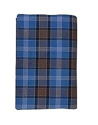 JISB Mens Cotton Checks Lungi(JIS LUNGI F01, Blue, Free Size)