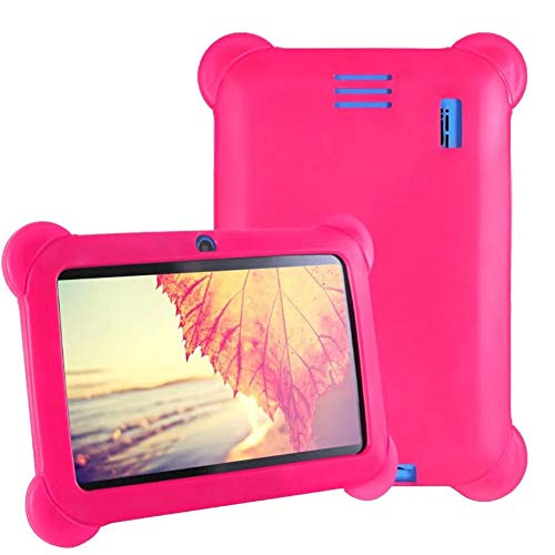 ELLENS 7inch Kids Tablets Quad Core, 8GB ROM 32GB Extended Memory, GMS Google Certification Android Tablet, Google Play Pre Installed, Kid-Proof Protective Case