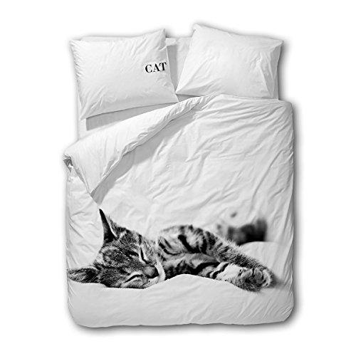 Traumschlaf Wendebettwäsche Cat 1 Bettbezug 135x200 cm + 1 Kissenbezug 80x80 cm
