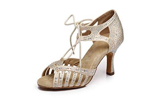 HCCY Hautfarbe Damenmode Schuhe weichen Boden Latin Tanzschuhe hochhackigen Jazz-Schuhe, 38, 7,5 cm