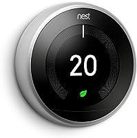 Google Nest Learning Thermostat. Plateado