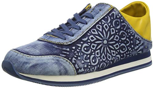 Desigual Damen Shoes Pegaso Mandala Sneaker, Blau (Denim Dark Blue 5008), 38 EU