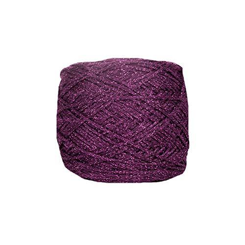 Clisil Purple Glitter Lurex Yarn,Shine Sparkle Yarn DIY Toys Bags Decor 90g