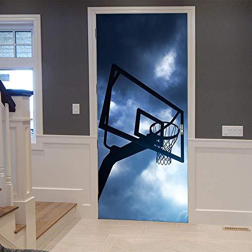 BXZGDJY 3D deursticker voor binnendeuren maak je sport? Deurbehang zelfklevende deurposter - rooster ijzeren deur - fotobehang deurfolie poster behang, deurbehang zelfklevend deurposter - fotobehang deurfolie 95X215CM
