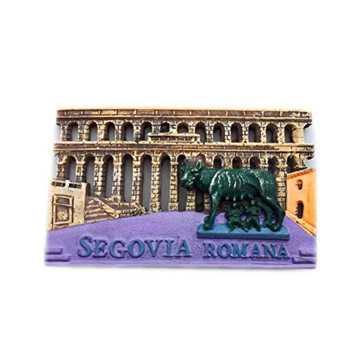 'N/A' El acueducto Romano de Segovia España imán de Nevera 3D artesanía Recuerdo Resina imanes refrigerador colección Regalo de Viaje