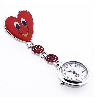 5Five orologio da tasca, spilla per infermiere, a forma di cuore, movimento al quarzo