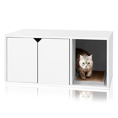 Way Basics 819767013655 Umweltfreundliche Moderne Katzenstreu Box Möbel, weiß