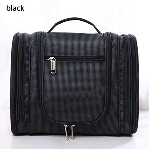 L-SLWI Bolsa de cosméticos de Viaje Colgante - Bolsa de Lavado - Bolsa de Almacenamiento Grande - Impermeable - Bolsa de Almacenamiento de Viaje,Black
