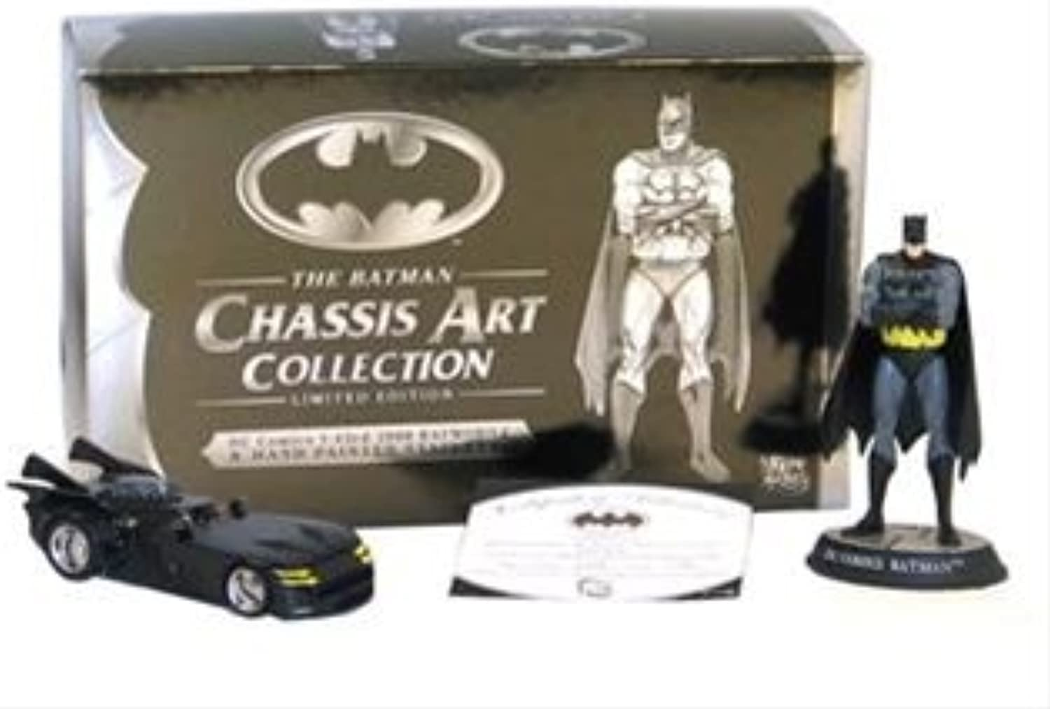 The Batman Limited Edition Chassis Art Collection - 2000 Batmobile & Batman Statuette