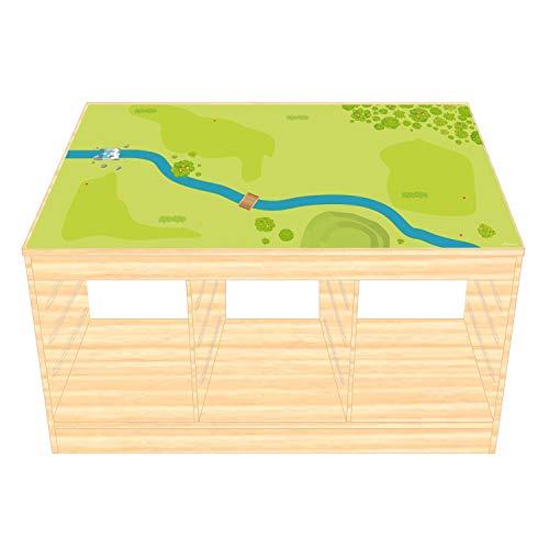 Spielfolie/Möbelfolie für IKEA TROFAST Holz Wald & Wiese Aufkleber Sticker Kinderzimmer Spieltisch (Möbel Nicht inklusive)