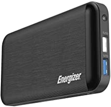 Energizer UE10030MP_WE Ultimate 18W Fast Charging, High Capacity 10000mAh Lithium Polymer, 1 USB-C and 2 USB-A, Power Bank w/Power Delivery 3.0 for iPhone, Samsung, Wearables, Earbuds, White