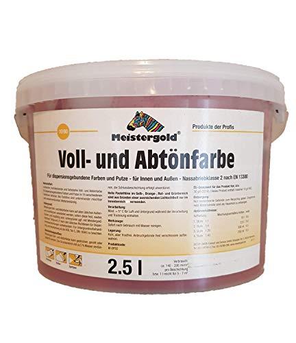 Meistergold Voll- und Abtönfarbe innen & außen Matt 2,5 L Farbwahl, Farbe:oxidrot
