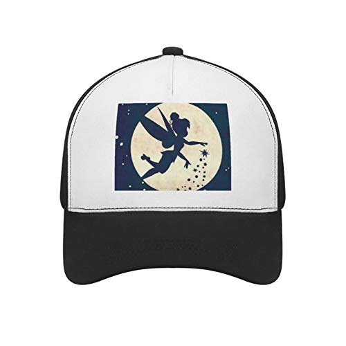 Baseball-Kappe für Männer und Frauen, verstellbar, Sport-Kappe, Fee, Glocke, Tapete, Baseball-Kappe