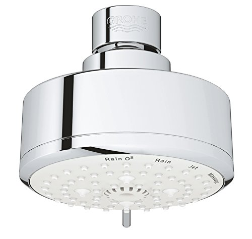 Grohe 27591001 Tempesta Cosmopolitan 100 2.5 GPM 4 Spray Shower Head, Starlight Chrome