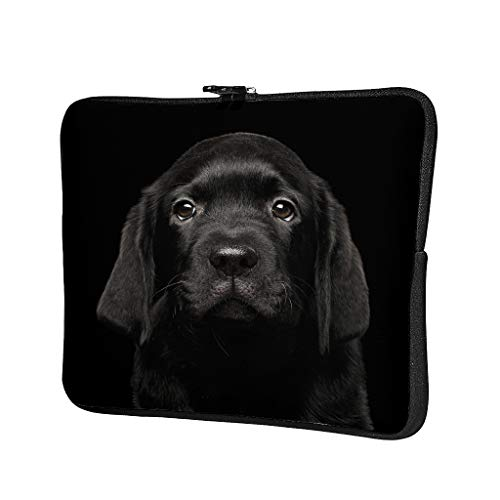 Black Labrador Abrasion Resistant Waterproof High Capacity Laptop Bag Hand Bag Laptop Messenger Bag for Business Trip for Workers Students White 17 Zoll