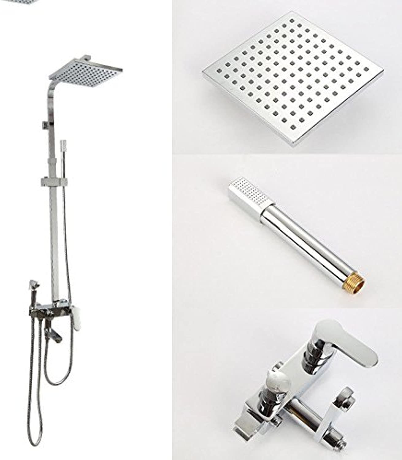 SADASD Modern Copper Bathroom Shower Faucet Set Set Set Booster Nozzle Hand-Held Lifting Thermostat Shower Hot and Cold Mixer Tap 4f46a9