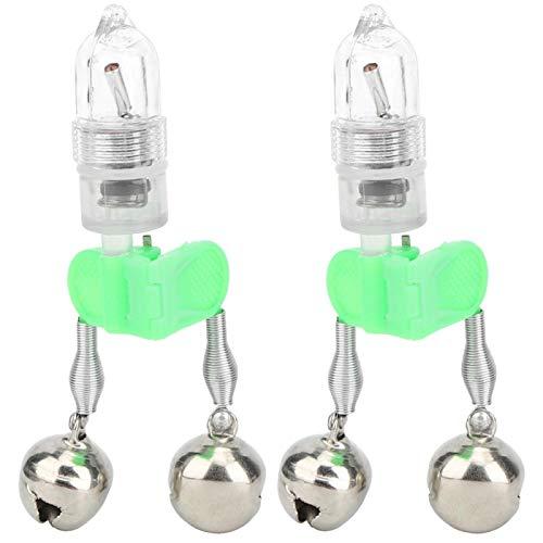 Snufeve6 Luz eléctrica de inducción de Pesca Nocturna, luz de Campana de Pesca Nocturna Profesional con Cabezal de Campana para Pescadores para Pescar