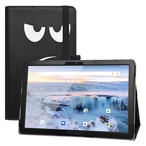 """LFDZ Coque Archos T101 4G,Slim Fit PU Cuir Etui et Pliable Stand Housse Support Ultra-Mince et Léger Etui Cover Coque Case pour 10.1"""" Archos T101 4G Tablet,Don't Touch"""