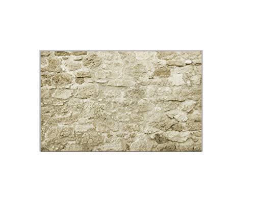 TipTa Panel para cocina de vidrio de seguridad ESG con diseño de muro de piedra natural, 1200 x 660 mm
