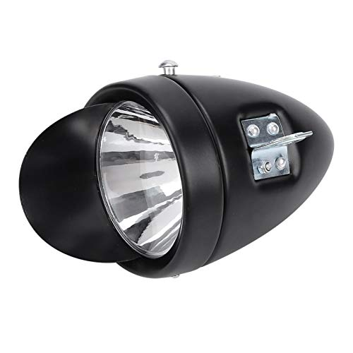 Cerlingwee Headlight, Clear Lighting Brightness, Easy To Operate, LED Bicycle Headlight, Easy To Install LED Bright Headlight, Vintage Design for Bicycle Handlebar