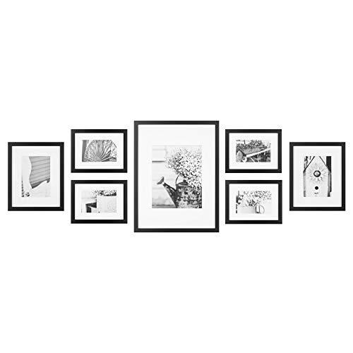 7 Piece Black Photo Kit Decorative Art Prints & Hanging