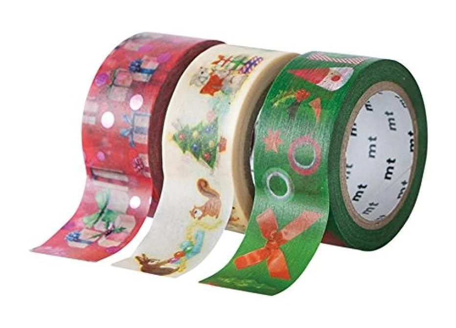 mt Seasonal Washi Paper Masking Tape [genuine MT Kamoi Kakoshi/produced in Japan] [genuine MT Kamoi Kakoshi/produced in Japan: 2-0.36 in. x 7-0.67 yds. (Christmas Set 2016 B) / 3-pack