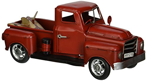 Vintage Looking Antique 8' Handcrafted Red Truck Vehicle Car Model