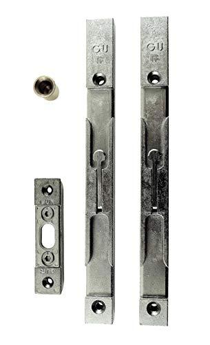 GU Secury Türkantriegel Komplett Set 20mm (2 Riegel + Schließblech + Bodenhülse)