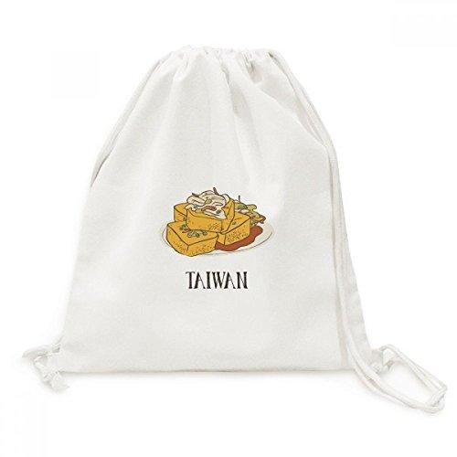 DIYthinker Snake Essen Stinky Tofu Taiwan Canvas-Rucksack-Reisen Shopping Bags